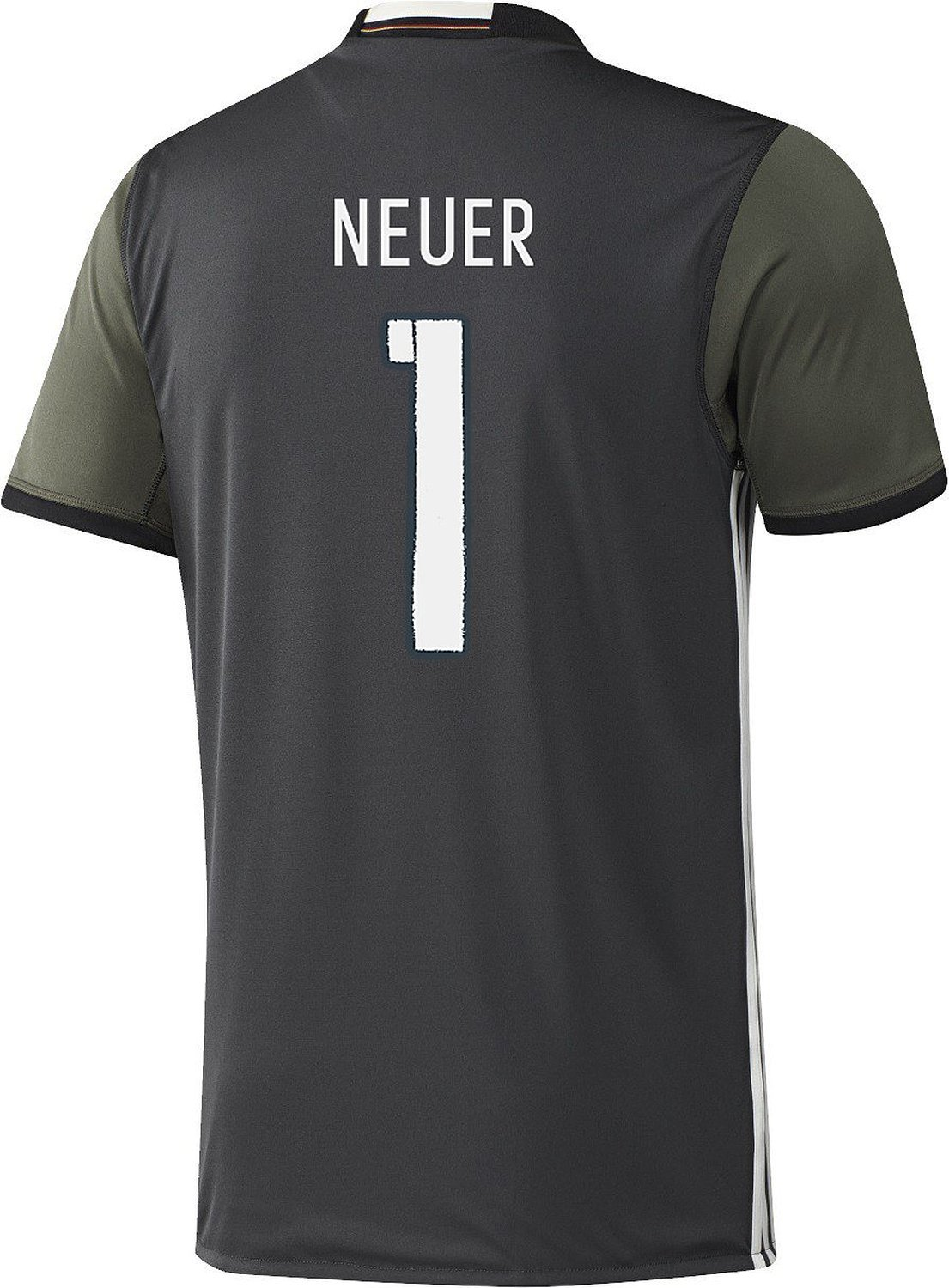 Adidas NEUER #1 Germany Away Soccer Jersey Euro 2016(Authentic name and number of player)/サッカーユニフォーム ドイツ アウェイ用 ノイアー 背番号1 Euro 2016 Large  B01A5ZC37W