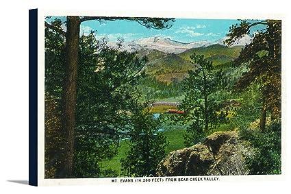 Amazon com: Colorado - Bear Creek Valley View of Mount Evans