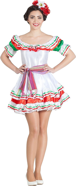 Car&Gus Disfraz de Mexicana para Mujer: Amazon.es: Juguetes y juegos