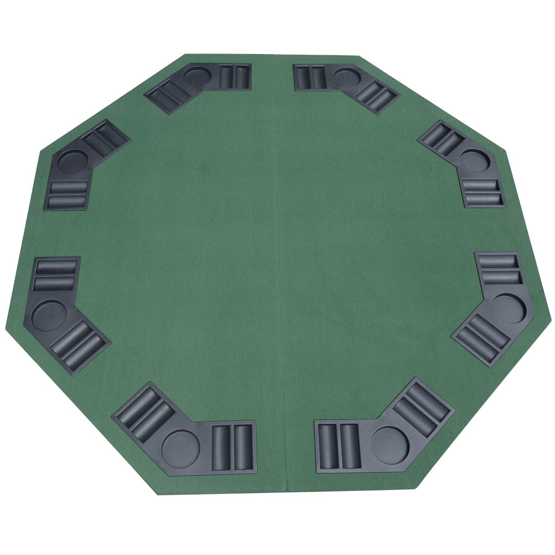 Homcom Pokertischauflage Pokerauflage Tischauflage faltbar achteckig MDF 120x120cm MH Handel GmbH