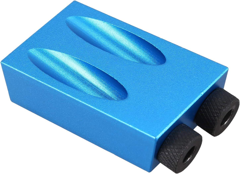 PQZATX Kit gabarit de poche pour travaux du bois 6//8//10 mm Angle de per/çage Guide de per/çage Set de perforateurs de trous pour outils de menuiserie B