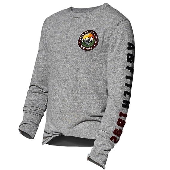 Abercrombie para hombre Logo Graphic camiseta de manga larga T ...
