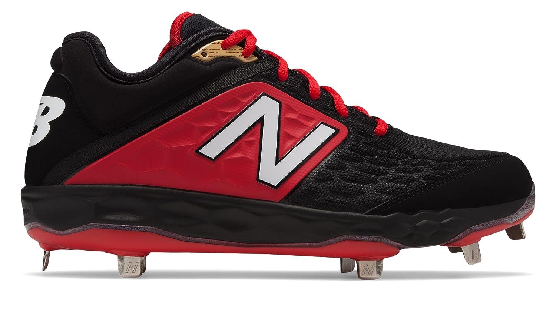[New Balance(ニューバランス)] 靴シューズ メンズ野球 3000v4 Metal Black with Red ブラック レッド US 8 (26cm) B07FRXRX2Q