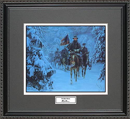 BigOfficeArt Mort Kunstler The Ghost Column Framed Wall Art Civil War Print