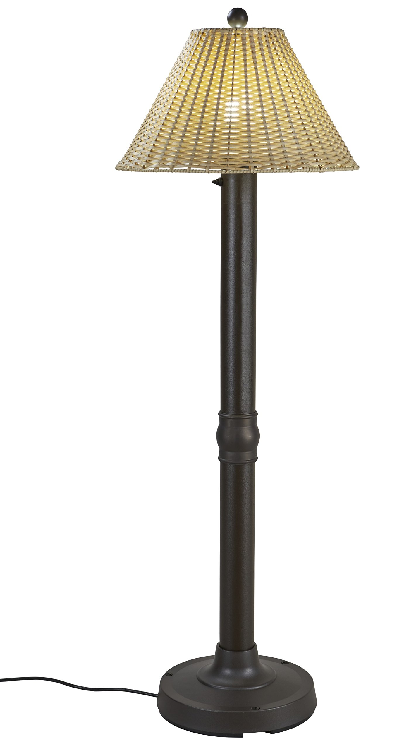 Patio Living Concepts 19207 Tahiti Outdoor Floor Lamp with 3'' Tubular Body, 60''
