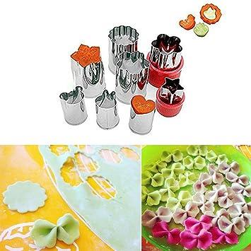 Cortadores niceEshop(TM) de diferentes figuras para verduras, galletas o frutas, estilo2, 3.8x5.5cm/2.5x4cm: Amazon.es: Hogar