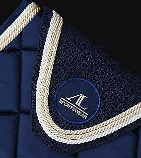 Alexandra Ledermann Sportswear Ensemble Tapis Bonnet Bleu Nuit 3 Cordes Beige doré Blanc