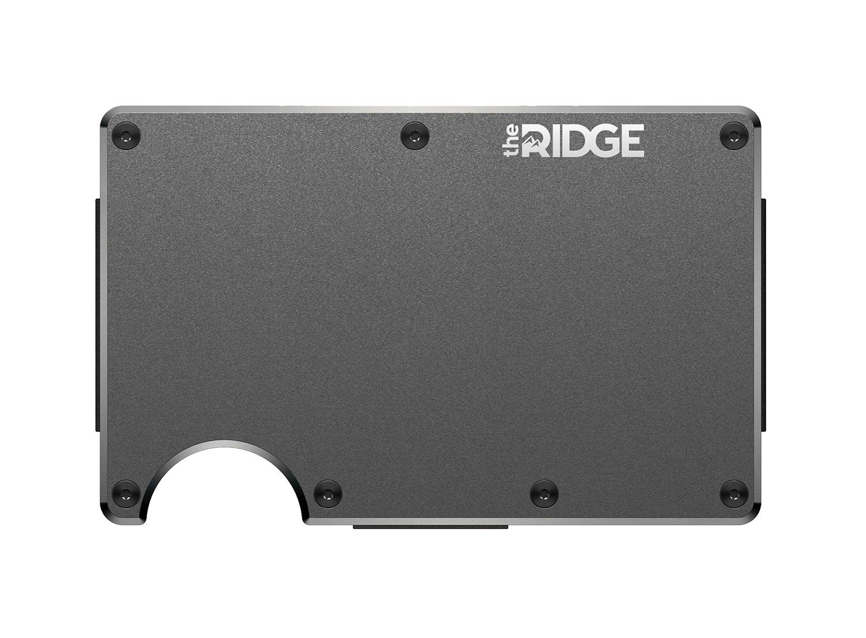 The Ridge Wallet Authentic | Minimalist Metal RFID Blocking Wallet with Cash Strap | Wallet for Men | RFID Minimalist Wallet, Slim Wallet (Gunmetal) by The Ridge