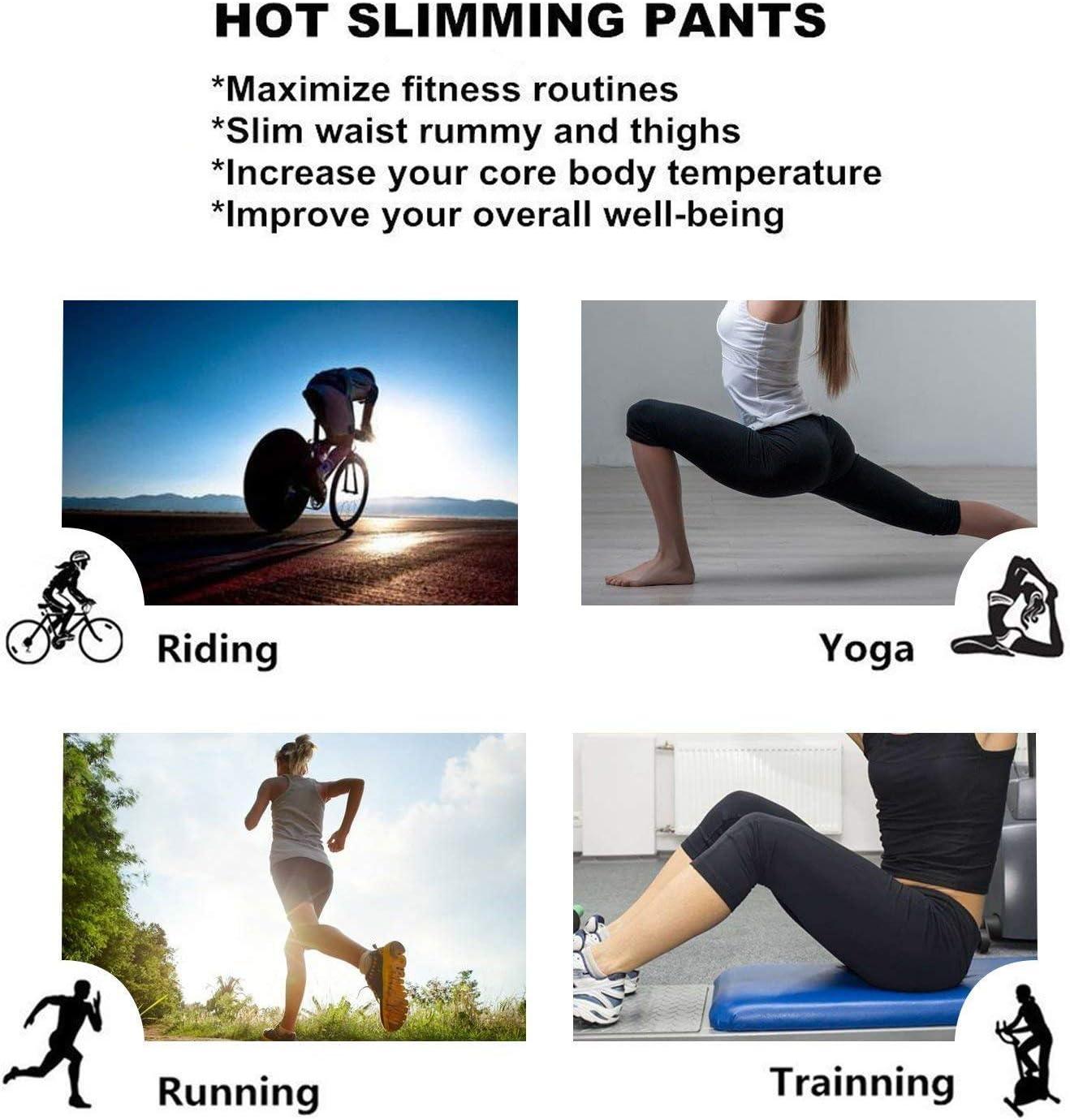 NOVECASA Sauna Shorts Damen Neopren Hosen Kurz Fitness Yoga zum Schwitzen Fettverbrennung Bauch Slimmerbelt Abmagerung