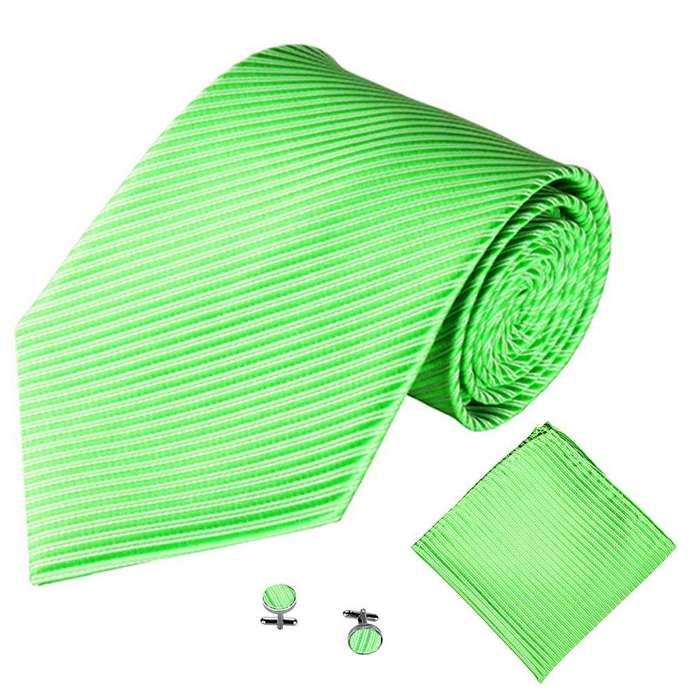 DeHolifer - Corbata de sarga jacquard para hombre, incluye pañuelo ...