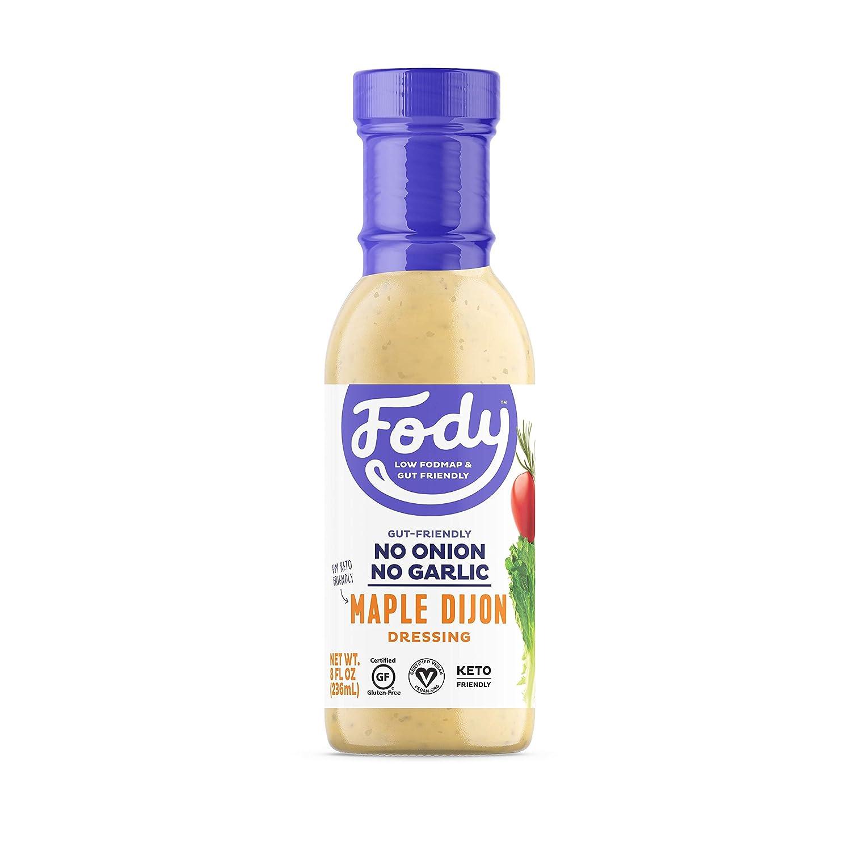 Fody Foods Vegan Maple Dijon Salad Dressing   Low FODMAP Certified   Gut Friendly No Onion No Garlic   IBS Friendly Kitchen Staple   Gluten Free Lactose Free Non GMO