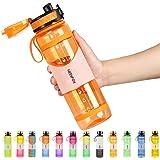 NEEKFOX Water Bottle, 34oz Gallon Water Bottles with Large Wide Mouth, Leakproof Anti-slip Durable BPA Free Tritan Water Jug,