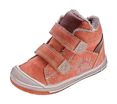 8d234f32dbbc90 Slobby Kinder Knöchel Schuhe Gefüttert Jungen Mädchen Sneaker Halbhoch  Klettverschluss Orange Gr. 27