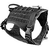 Vest yisibo Pet Dog Harness 1050Denier Nylon verstellbar Molle Service Hund Weste Military Tactical tranining Outdoor Adventure Jagd Geschirre Packungen Mantel für Kontrolle & Komfort