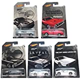 Hot Wheels Complete James Bond 007 1:64 Scale 5 Piece Car Collection