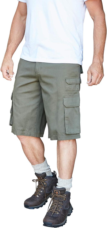 Boulder Creek by KingSizeBoulder Creek Mens Big /& Tall 12 Side-Elastic Stacked Cargo Pocket Shorts