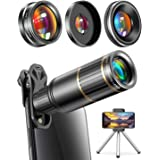 CoPedvic Phone Camera Lens Phone Lens for iPhone Samsung Pixel One Plus Huawei, 22X Telephoto Lens, 4K HD 0.67X Super Wide An