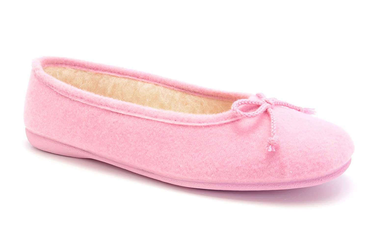 Andres Machado.AM402ALPINO.Womens Felt Ballet Flats in Anthracite.MADE IN SPAIN.Medium and Big sizes