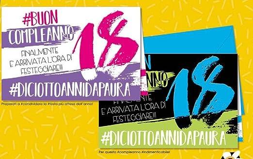 Tarjeta Felicitación cumpleaños 18 años Hashtag 1 a elegir ...