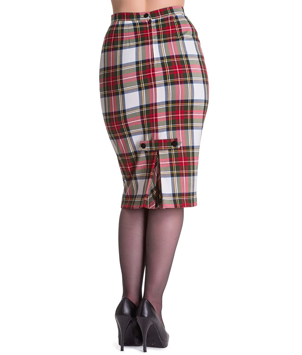1687179680 Tiger Milly Hell Bunny 50's Jodie Tartan Pencil Skirt: Amazon.co.uk:  Clothing