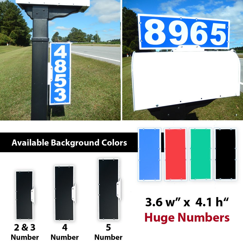 CIT Group Mailbox Address Plaque, Reflective 911 Plate, Mailbox Topper. Most Visible Mailbox Address Marker on the market!