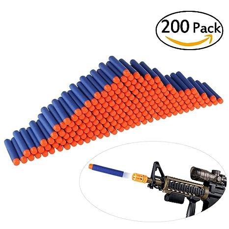 200pcs Para Espuma Bullet Ultnice Suave Recambio Dardos Blasters yb6Y7fg