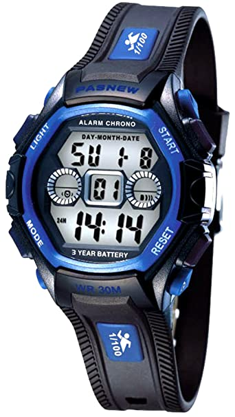 8dfdf4004 Waterproof Boys Girls Kids Childrens Digital Sports Watches for 5-12 Years
