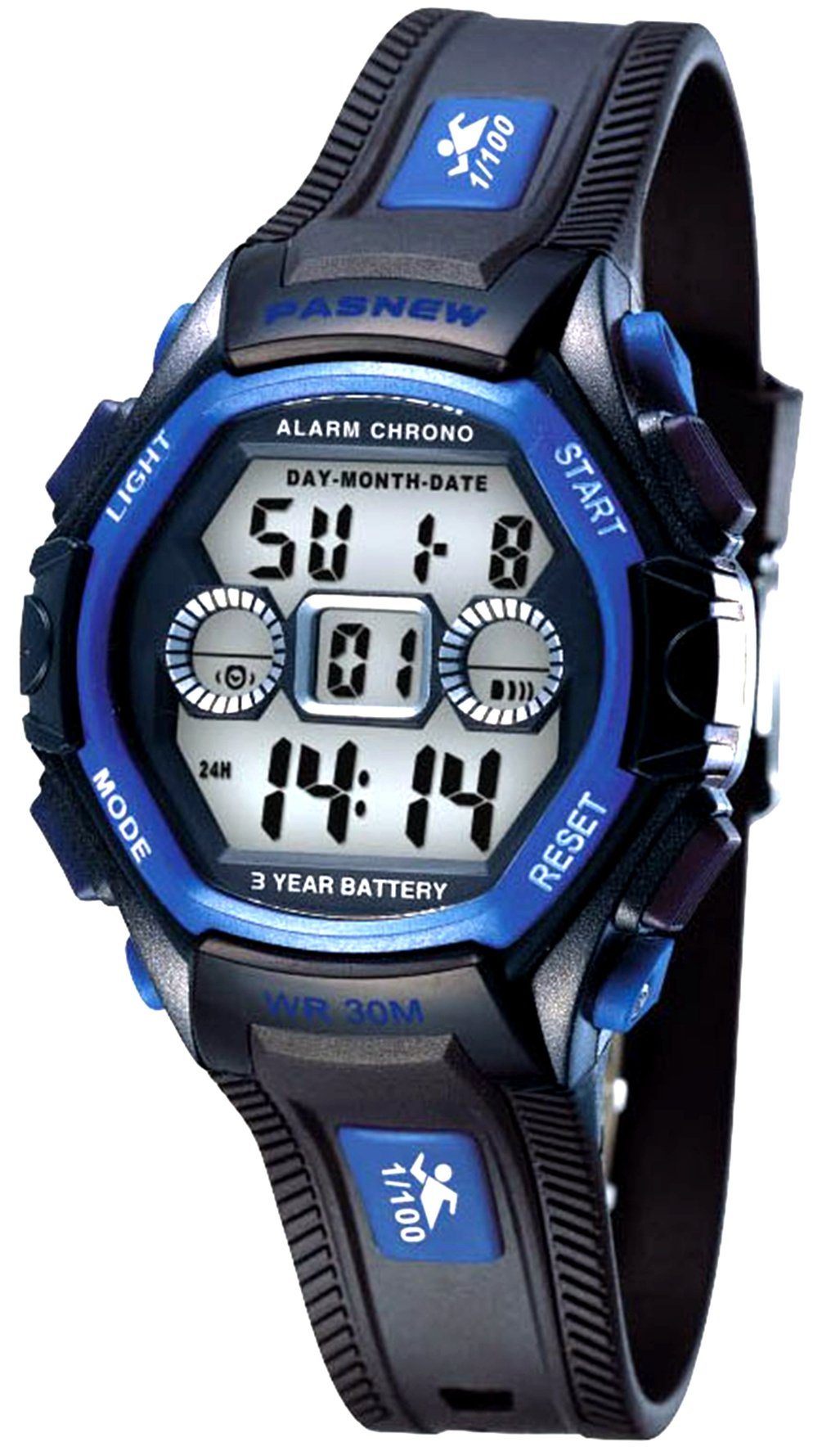 Waterproof Boys/Girls/Kids/Childrens Digital Sports Watches for 5-12 Years Old (Black Blue)