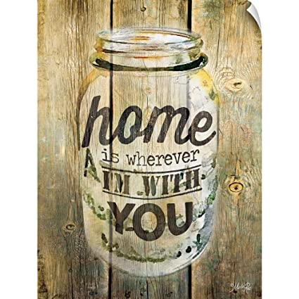Home Is Wherever I/'m With You by Marla Rae Print 12x16