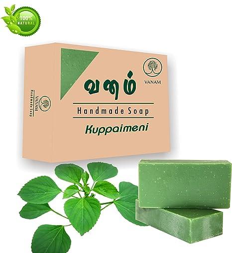 Vanam Handmade Herbal Kuppaimeni Bath Soapset Of 5blended With