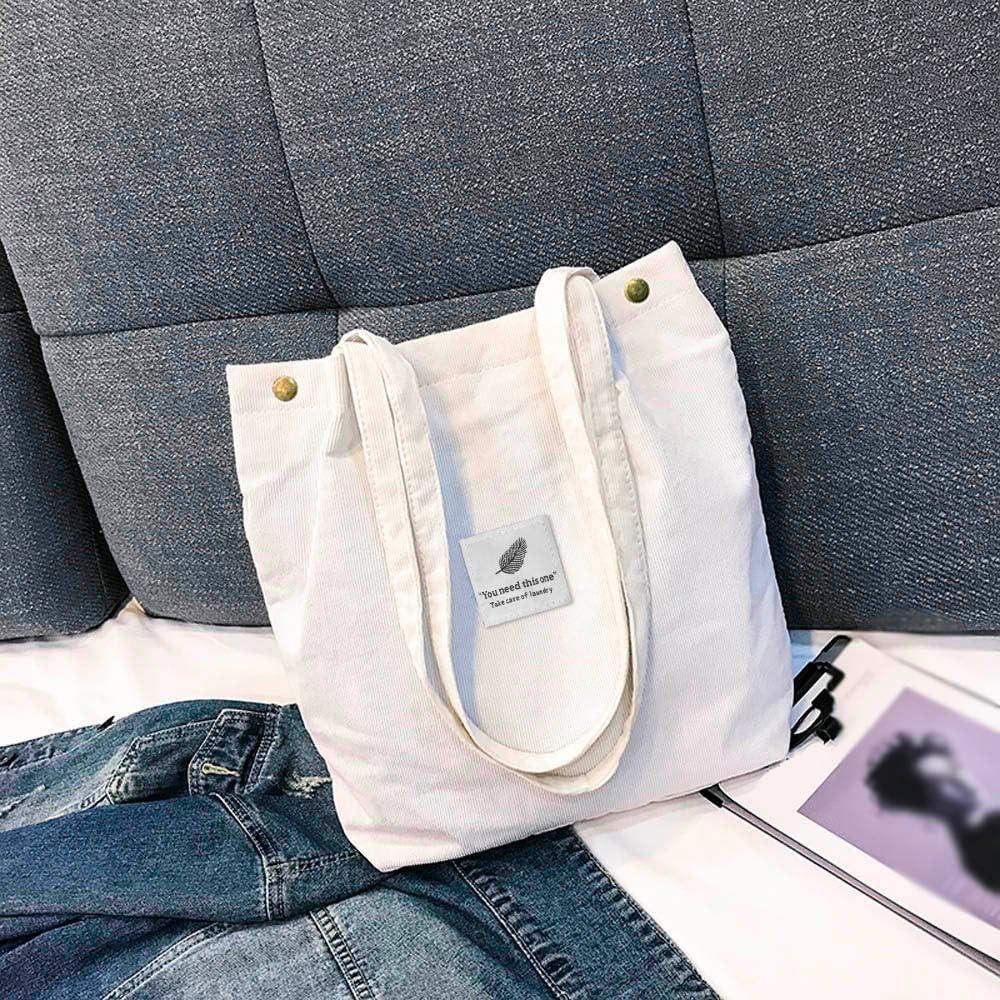 Damen Handtasche Gro/ß Umh/ängetasche Canvas Tasche Henkeltasche Damen Canvas Shopper f/ür M/ädchen Schule by Dragon868