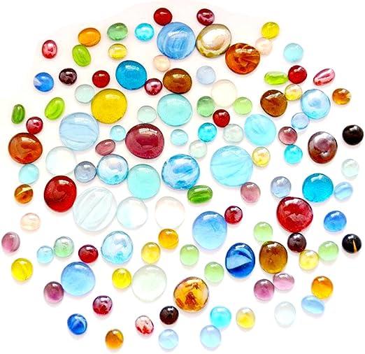 LKXHarleya - 40 Piedras de Cristal Planas para Rellenar jarrones ...