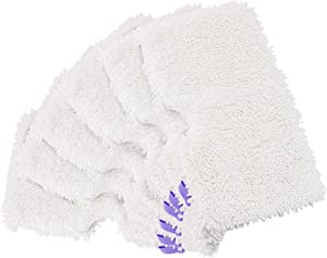 Wilder 6-Pack Replacement Microfiber Steam Mop Washable Pad Compatible with Shark Steam Pocket Mops S3500 Series S3500 S3601 S3550 S3901 S3801 S3501 S3601D S3801 S3910 SE450 S3801CO