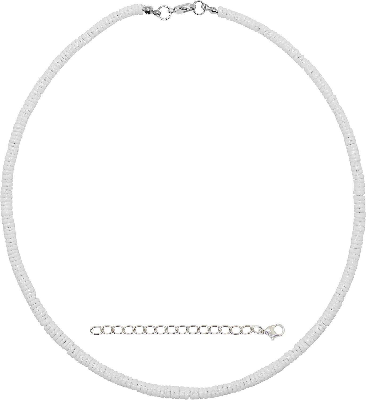da Hawaiian Store Smooth White Premium Quality Heishi Puka Shell Necklace