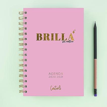Casterli - Colección Brilla - Agenda Escolar 2020-2021, Día Página, Tamaño A5: Amazon.es: Oficina y papelería