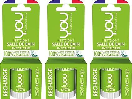 YOU - Recharge pour Spray Nettoyant Salle de Bain - Anticalcaire - Lot de 3  x 8944c9ffe8d