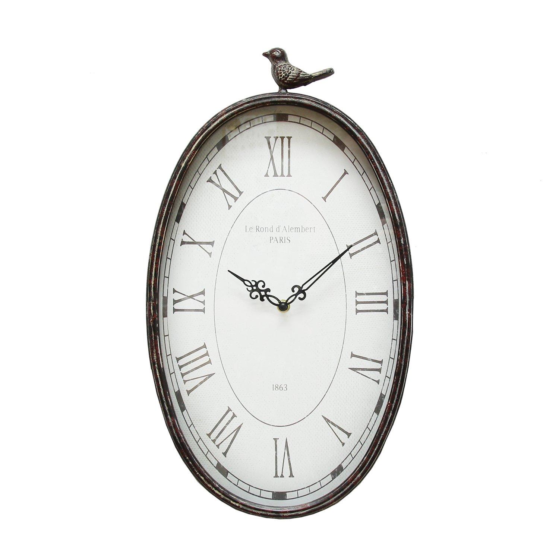 Stratton Home Decor SHD0009 Antique Oval Clock