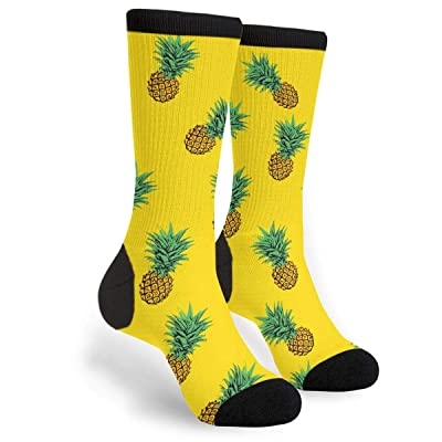 Delicious Yellow Pineapple Novelty Socks For Women & Men One Size - Gifts: Clothing