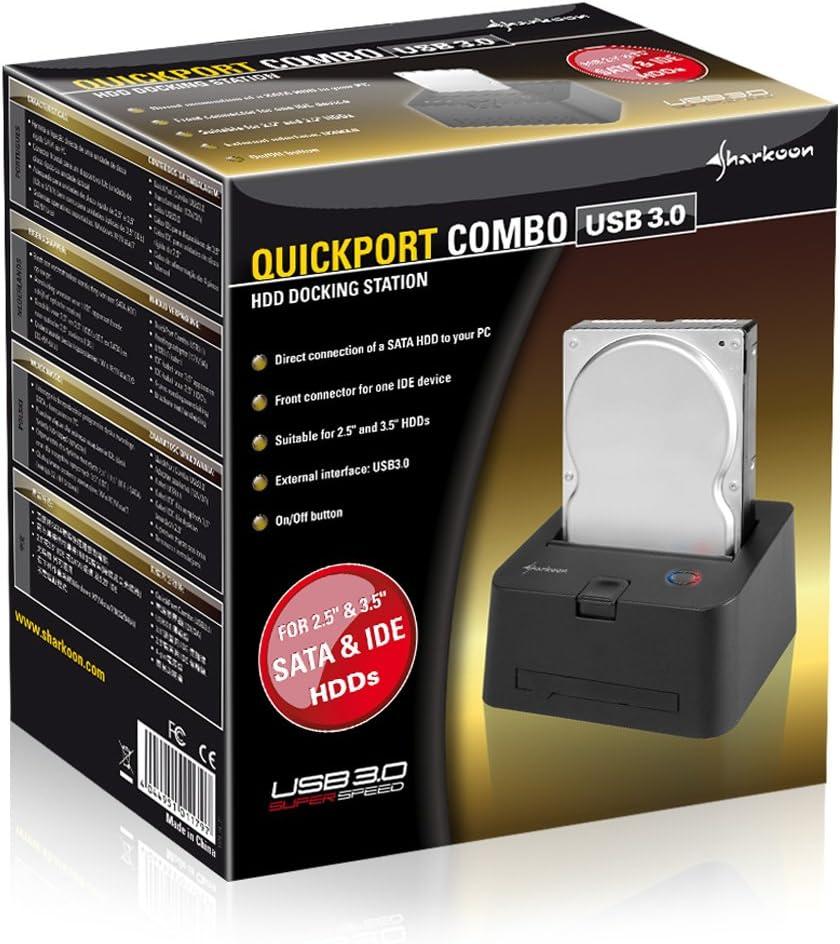 Sharkoon Quickport Combo Usb 3 0 Hdd Dockingstation Computer Zubehör