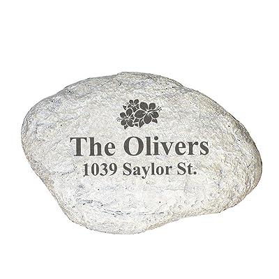 GiftsForYouNow Family Address Personalized Garden Stone : Garden & Outdoor
