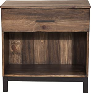 "Origins by Alpine Weston Nightstand, 28"" W x 16"" D x 28"" H, Rustic Pine Finish"