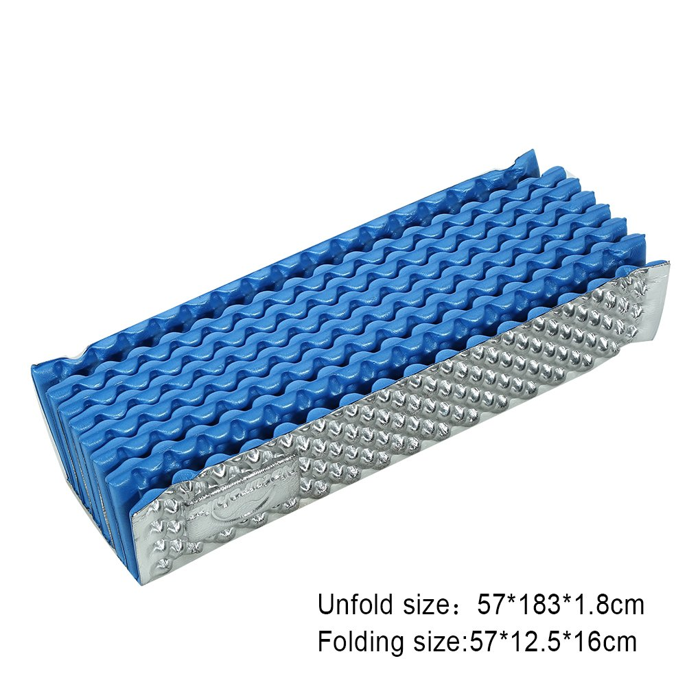 VGEBY Foldable Camping Mat Lightweight Moisture Proof Egg Carton Structure Sleeping Mat for Hiking Camping Picnic Backpacking