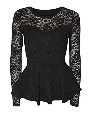 21f4b1ebac4f3 mix lot New Women Ladies Sexy Beautiful Peplum Popcorn Lace Sequin Long  Sleeve Ladies Bodycon Party Top