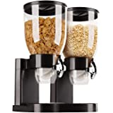 Dispensador Cereal Doble Deluxe Negro