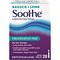 2-Pack of 28-Count Bausch & Lomb Soothe Lubricant Eye Drops