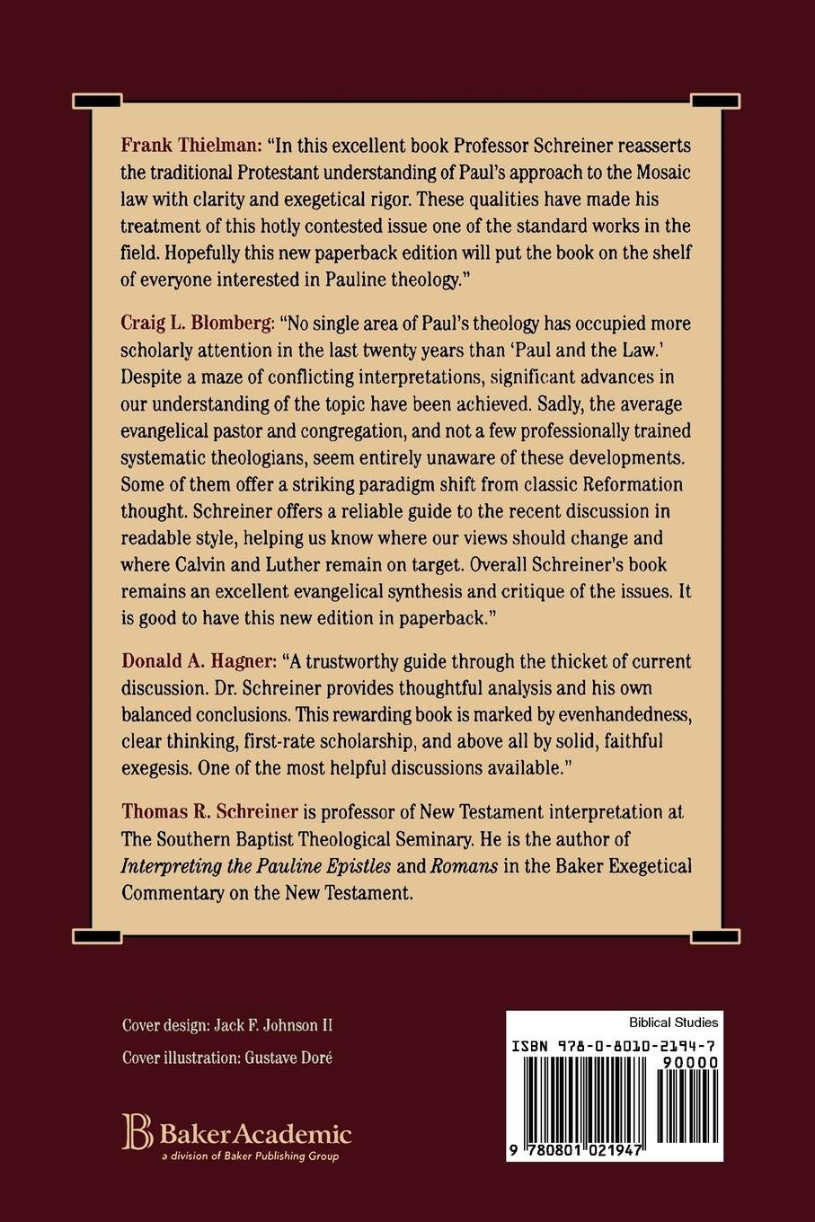 Law and Its Fulfillment: Thomas R Schreiner: 9780801021947: Amazon