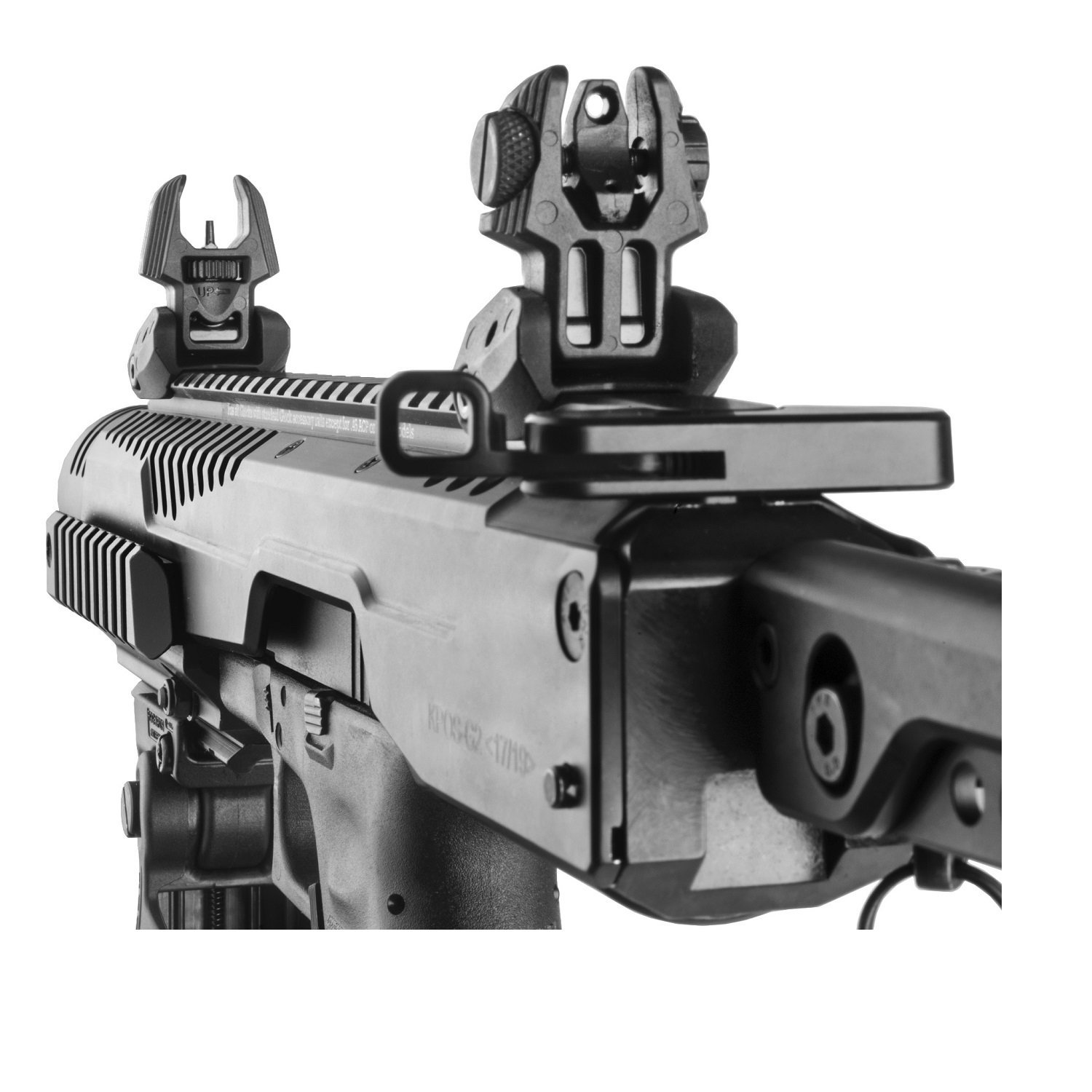 FAB Defense Front and Rear Set of Flip-Up Sights F/RBS