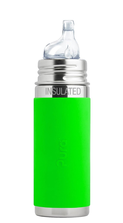 Pura kiki ISOLIER Babyflasche grün Pura Stainless Trinklernsauger I9SGS1