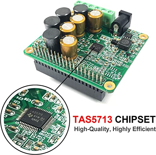 RPI HiFi AMP HAT TAS5713 Amplifier Audio Module 25W Class-D Power Sound Card Expansion Board for Raspberry Pi 4 3 B Pi Zero Nichicon Capacitor