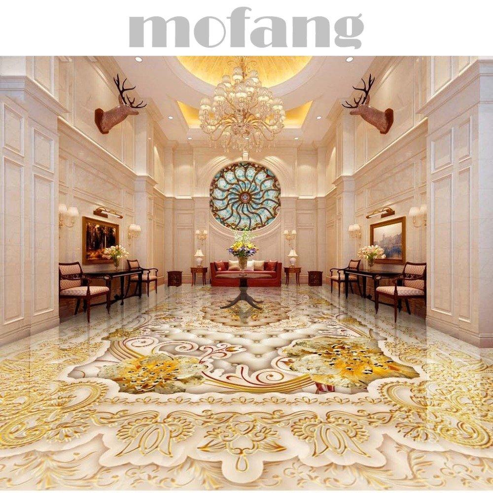 ZLJTYN 270cmX180cm 3D Floor Wallpaper European-style Luxury Modern Gold 3D Wallpaper For Ceiling Custom Size Wallpaper by ZLJTYN (Image #2)